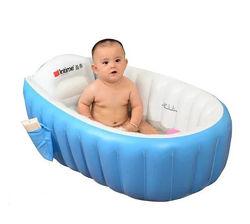 Надувная ванночка синяя  Intime Baby Bath Tub