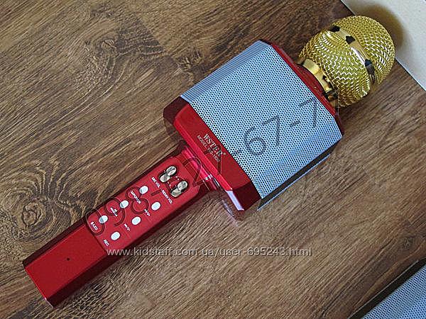 Беспроводной караоке микрофон Wster WS-1828 красный