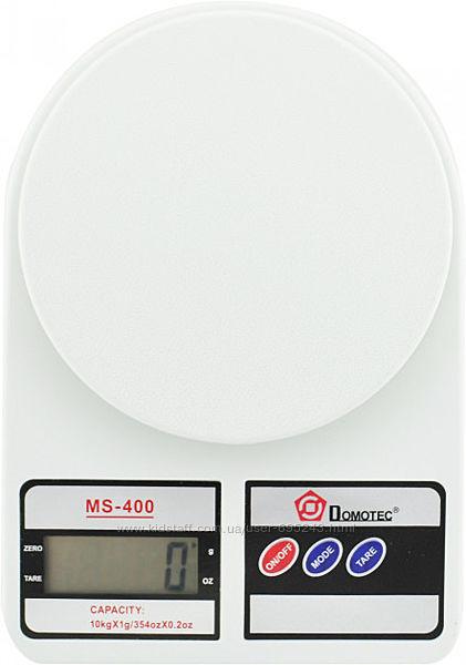 Электронные кухонные весы Domotec MS 400 С LCD-Дисплеем на 10 Кг