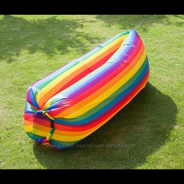 Надувной Ламзак Lamzac Air Sofa Rainbow шезлонг радуга подходит для воды