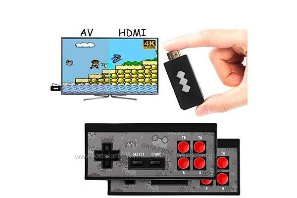 Игровая Консоль Беспроводная HDMI Dendy NES 8бит 568игр Data Frog