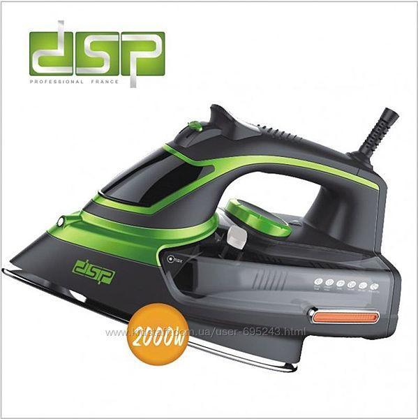 Утюг DSP KD-1004 2000 Вт Паровой Утюг KD 1004 Черно-Зеленый