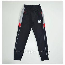 Спортивные штаны мальчику подростку A-Yugi Jeans черные р. 122-176см