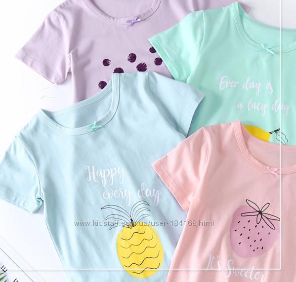 Ночная сорочка короткий рукав для девочки много расцветок в наличии