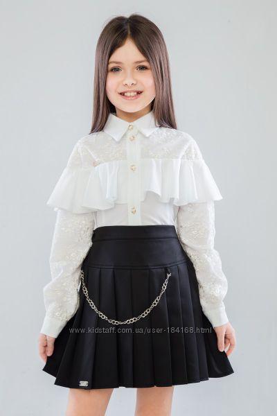 Блуза школьная для девочки SUZIE Брианна в наличии белая и персик