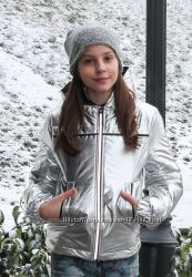 Демисезонная курточка серебро весна, осень для девочек в наличии