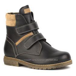 Ботинки кожаные зима для мальчика два цвета  Shagovita Шаговита синий