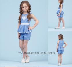 Комплект летний блузка и шорты для девочки