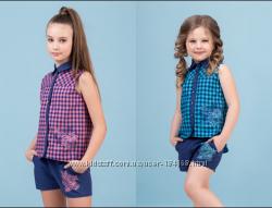 Комплект летний рубашка и шорты для девочки