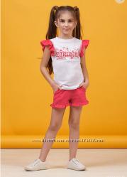 Комплект летний шорты и футболка для девочки