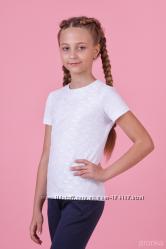 Блузка белая короткий рукав школьная для девочки