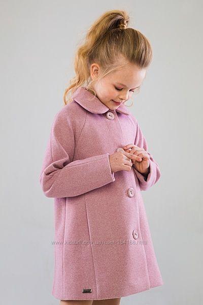 Стильне пальто-трансформер Мендіс для дівчат р. 116-122-128см демісезон