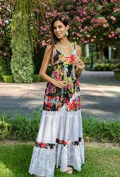 Летнее платье, сарафан из хлопка Indiano, AnastaSea 556A распродажа