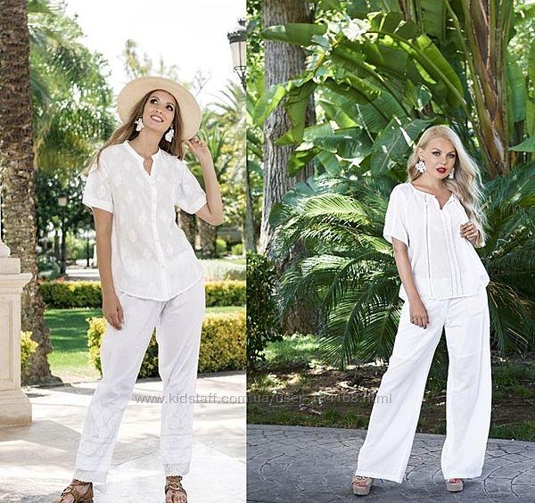 Лляные летние белые брюки Indiano 2601 и 2651