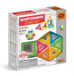 Магнитный конструктор Мегформерс Magformers Neon 14 деталей