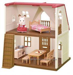 Calico Critters Red Roof Cozy Cottage Уютный коттедж с фигуркой и мебелью