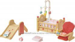 Calico Critters Baby Nursery Set Детская комната Sylvanian Families