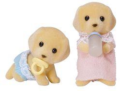 Щенки желтых лабрадоров двойняшки Calico Critters Yellow Labrador Twins