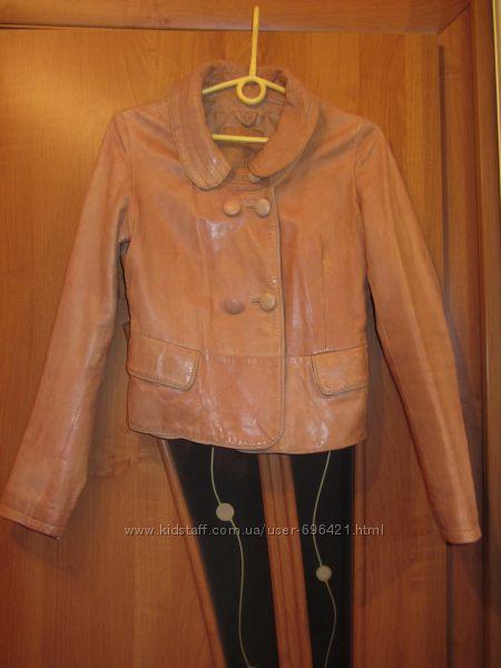 Куртка-пиджак Stradivarius натуральная кожа