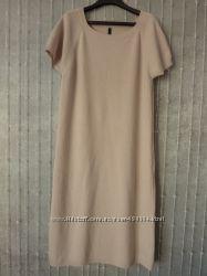 Теплое бежевое платье BENETTON