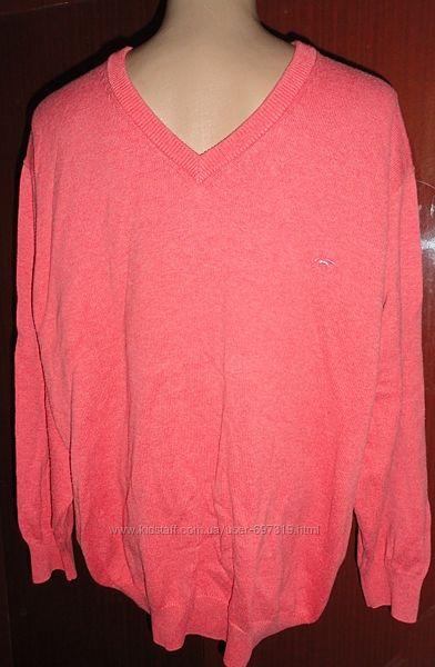 Яркий мужской свитер большого размера в отличном состоянии