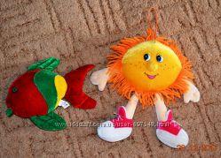 Музыкальные плюшевые игрушки, рюкзаки гномик и цыпленок