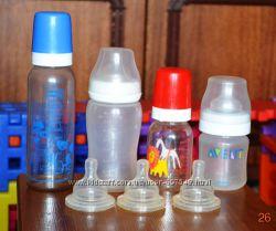 Бутылочки моего сыночка, авент и канпол, ложки авент, поильник, запчасти