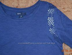 Молодежная футболка лонгслив реглан с воланчиками на плечиках 2 шт