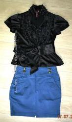 Бандажная юбка мини хорошо подчеркивает фигуру С-ХС