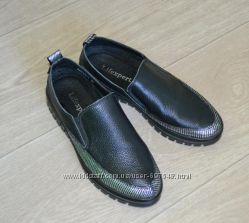 Натуральная кожа модные туфли на каждый день