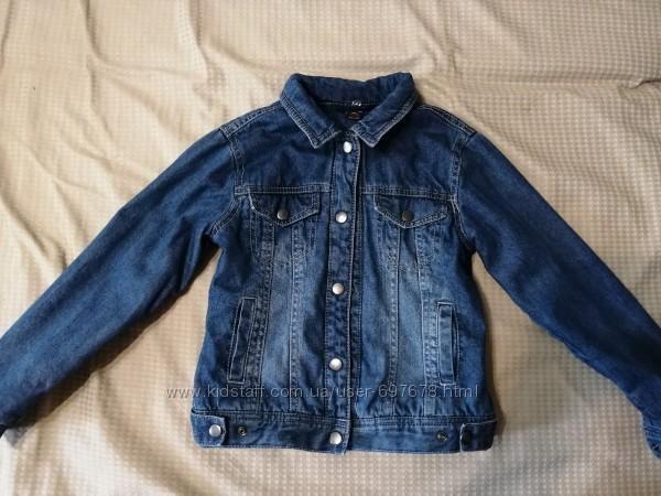 Утепленная джинсовая курточка, жакет, ветровка