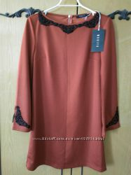 Красивое терракотовое платье Mohito трапеция