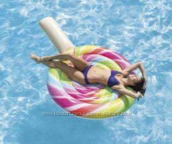 Intex надувной матрас плотик Леденец