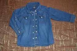 Джинсовая рубашка ТМ H&M на 1-3 года