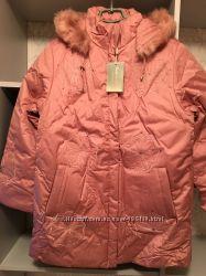 Женское деми пальто с подстёжкой для зимы. 2 в 1. 44-56р.
