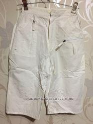 Женские шорты-бриджи. Цвет белый. Коттон. Размеры 42-50.