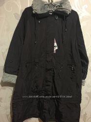 Женское пальто трансформер на кашемире. 54-56р. Цвет слива.
