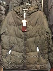 Зимний мужской пуховик Tafika. Цвет защитный  хаки. 48-56р. Распродажа.