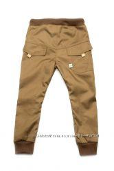 Брюки для мальчика джинсового типа хаки
