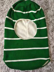 Детская зимняя шапка шлем, 50-52см. , подкладка флис