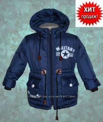 Демисезонные куртки-парки для мальчиков и девочек. Р. 26-32. ОПТ, розница.