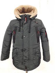 Зимняя куртка на мальчика на овчине. Р. 26-36. ОПТ, дропшиппинг, розница