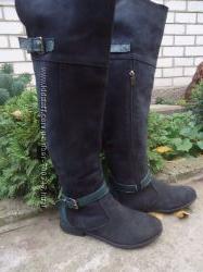 Ботфорты Soldi . ботинки , сапоги зимние 36р, замш натуральная