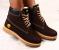 Ботинки Timberland натуральный нубук, зимние, коричневые