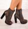 Ботинки натуральная кожа, на байке, коричневые