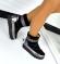 Ботинки Луноходы натуральная замша и кожа, черные