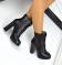Ботинки натуральная кожа, на шнуровке, зимние, черные