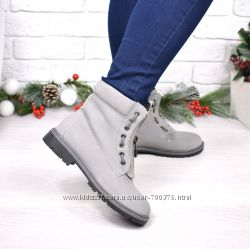 Ботинки демисезонные серые