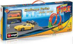 Игровой набор Трек скоростная петля Bburago 2 дорожки, 2 машинки