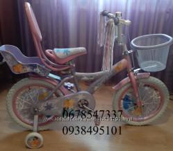 Велосипед для девочек Frosen Холодное сердце на 12, 14, 16, 18, 20 дюй